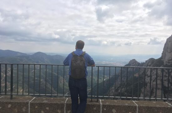 Looking out from Montserrat , Spain