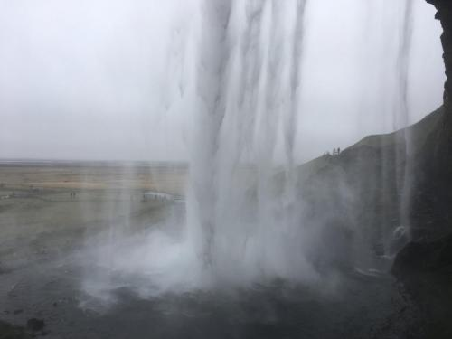Behind Seljalandsfoss Falls