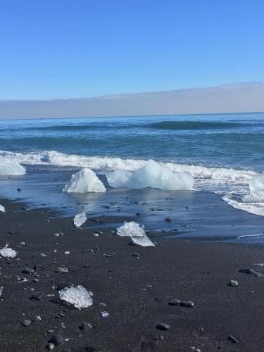 Jökulsárlón black sand beach